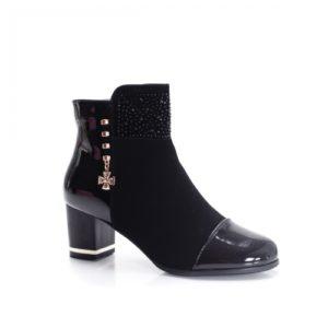 Botine Truscott negre cu toc foarte elegante si comode pentru femei