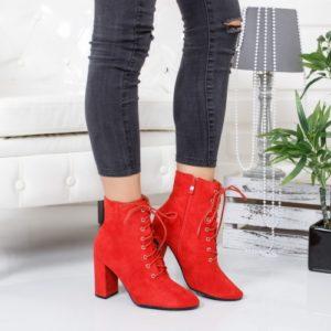 Botine Tumasi rosii foarte elegante si comode pentru femei