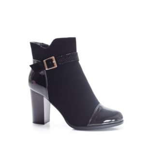 Botine Zelmi negre cu toc gros foarte elegante si comode pentru femei