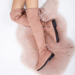Cizme Buccho roz pal inalte ieftine pentru dama