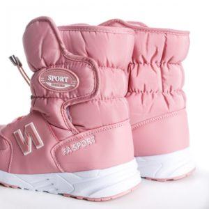 Cizme de zapada roz imblanite comode si calduroase cu talpa groasa Edesy