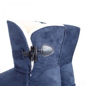 Cizme Elocadia albastre imblanite ieftine pentru dama