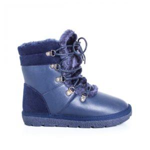 Cizme Joseva albastre de iarna ieftine pentru dama