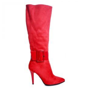 Cizme Juniper rosii imblanite ieftine pentru dama