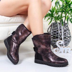 Cizme Louny negre-bronz ieftine pentru dama