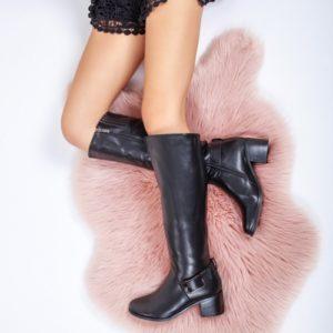 Cizme Nastali negre inalte ieftine pentru dama