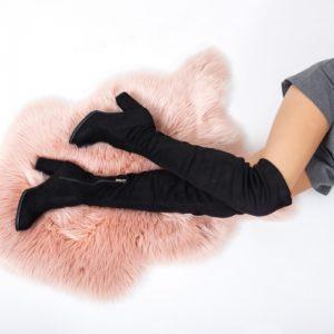 Cizme Risso negre lungi ieftine pentru dama