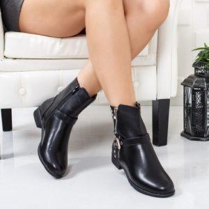 Cizme Tugasi negre comode ieftine pentru dama