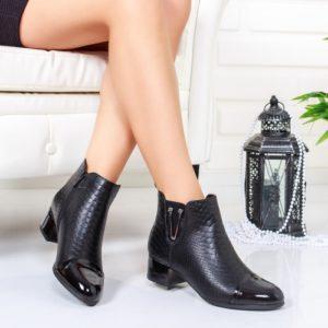 Cizme Vaseni negre scurte ieftine pentru dama