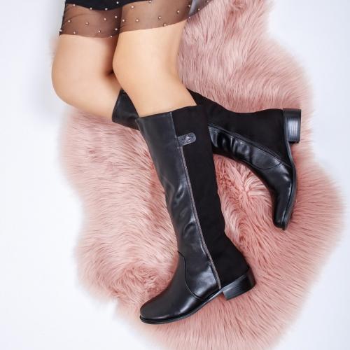 Cizme negre lungi ieftine pentru dama