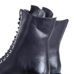 Ghete Elegante pentru femei cochete Joplin negre imblanite din piele eco