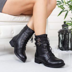 Ghete Maslova negre comode ieftine pentru femei