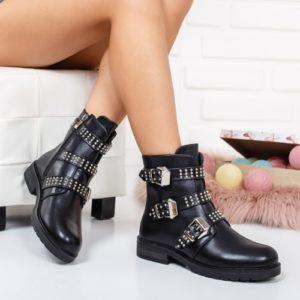 Ghete Pareji negre comode ieftine pentru femei