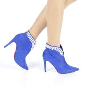 Botine dama Caju albastre ieftine online