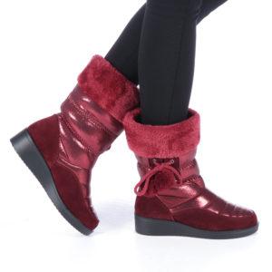 Cizme dama Blandina rosii ieftine online